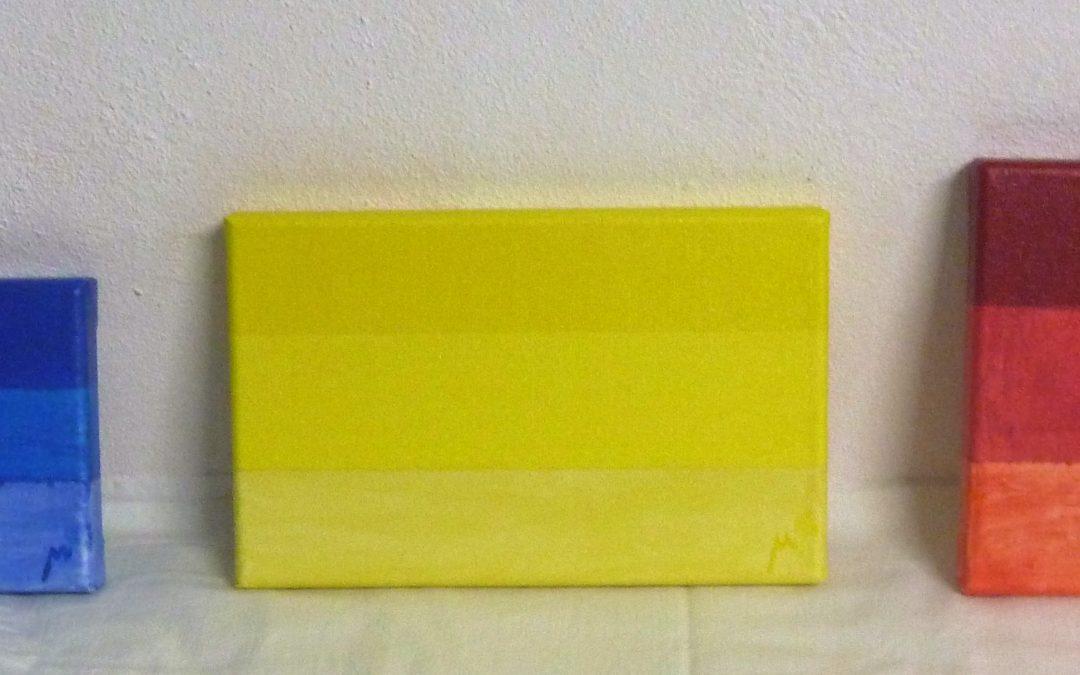 Alquiler, Esencia del Color , acrílico sobre lienzo , 22×12 – 22×14 – 22×16